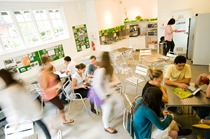 Our Student Room is the place where students can relax, eat lunch or a snack, and make friends