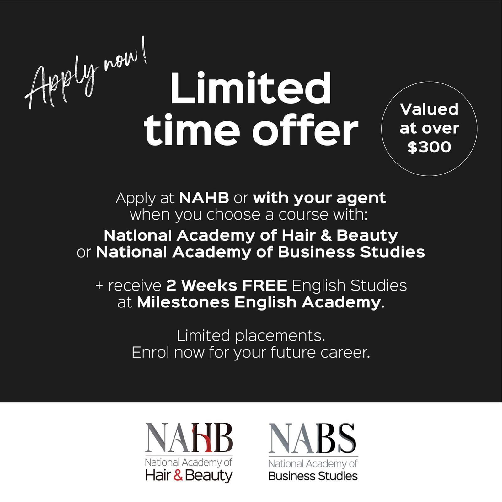 NAHB Promotion with Milestones 2 weeks Free English